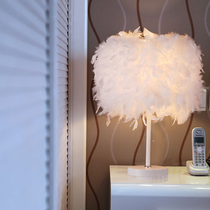 旭呈北欧木质台灯卧室简约现代美式创意结婚温馨日式实木小床头灯
