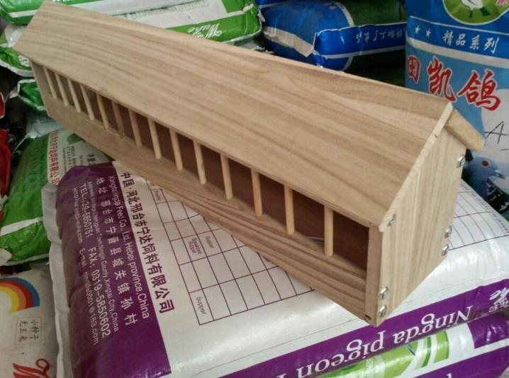 鸽具鸽子防撒水食槽料槽信鸽食槽鸽子用品用具木食槽信鸽塑料食槽