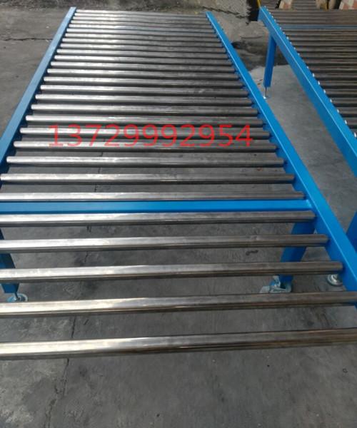厂家直销无动力辊筒滑道辊筒输送机 滚筒输送梯重型卸货梯滚筒线