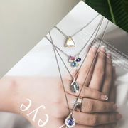 New fashion alloy necklace ladies heart pendant simple temperament geometric clavicle chain Japanese and Korean version of accessories