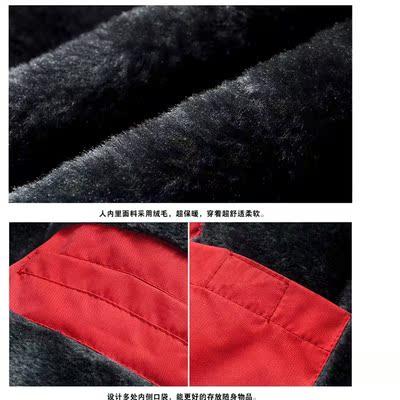 棉衣工装棉服特价加绒加厚冬天大码休闲连帽外套2018新款棉袄男装