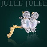 JULEE JULEE Julie Julie 18K Diamond Mother Bay Brooch