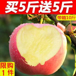 苹果水果10斤当季新鲜水果红富士苹果野生糖心丑苹果带箱批发包邮