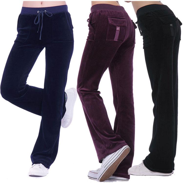 天鹅绒运动裤子