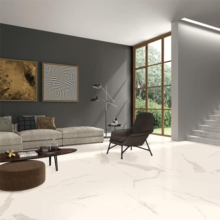 陶一郎简约现代客厅卧室地砖墙砖微晶抛釉瓷砖800x800大理石瓷砖