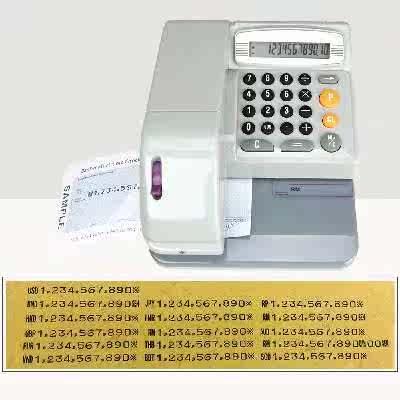 英文支票打印机香港支票机马来西亚RM打字机新加坡支票打印