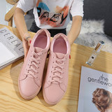 Common little white shoes girl 2019 summer new hundred breathable flat-bottomed leather skin thick-soled schoolgirl shoes