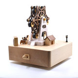 Taiwan jeancard real wooden rotating music box sen live fun female music box ferris wheel sky city Canon