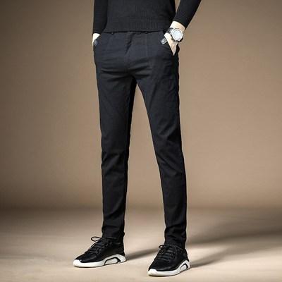广州港艺服饰不惑鸟服饰男士商务直筒休闲长裤CRK6074-HY70