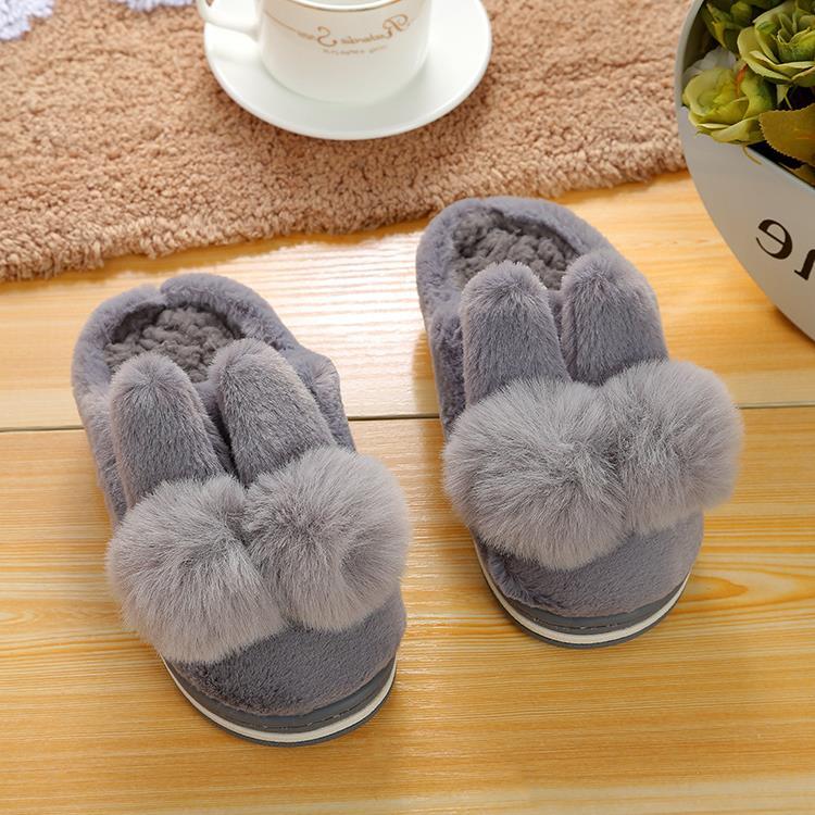 儿童棉拖鞋冬季可爱男女童加绒防滑保暖包跟棉鞋一家三口宝宝拖鞋