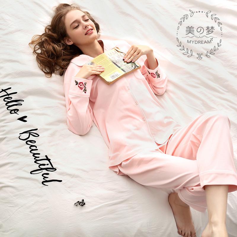 美梦纯棉长袖睡衣女