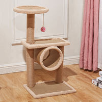 Sisal cat climbing frame small cat solid wood cat litter cat tree cat catching board cat toy cat jumping cat catching tree cat house
