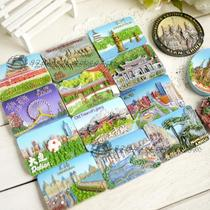 (3) Chinas major cities travel commemorative resin hand-painted refrigerator sticker tile send foreigner gifts