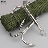 Climbing rope claws forged steel climbing claws survival climbing hooks rescue flying tiger claws hard steel flying hooks