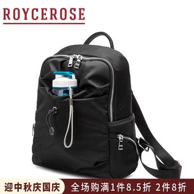 ROYCEROSE2018韩版新款双肩包牛津布配牛皮女包时尚旅行背包XJ814