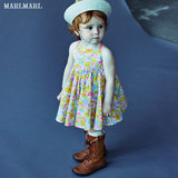 Summer new, Japanese children's marlmarl girl woven dress teasing series 03 with shy grass