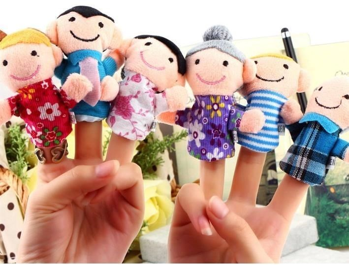 finger puppet happy family finger toy finger doll baby cloth