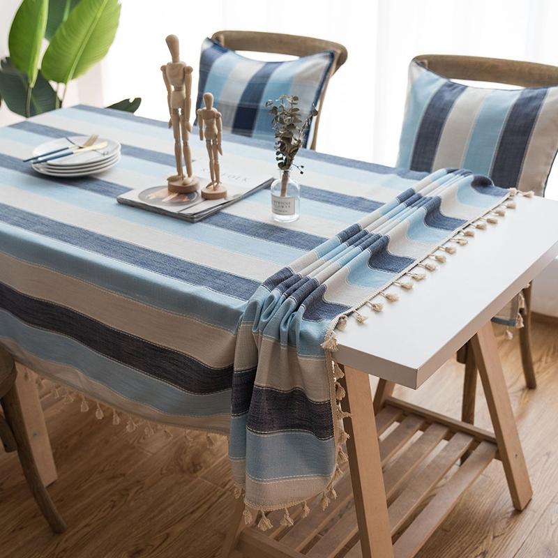 北欧风餐桌布防水防油免洗台布家用茶几床头柜布艺棉麻小清新日式