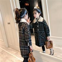 童装女童呢子大衣秋冬2018新款韩版儿童女大童中长款毛呢外套洋气