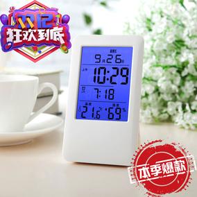 包邮科舰MC501家用室内多功能电子温湿度计夜光婴儿房温度计闹钟