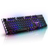 Glare keyboard green electric campaign flashing colorful streamer marquee game keyboard Internet cafe mechanical hand axis