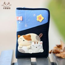 Taiwan's Imported Cute Cat, Mickey Cartoon Cotton Cloth, Multi-functional Passport Pack, E-Book Bag
