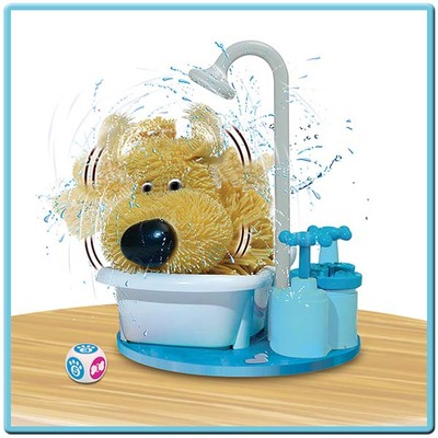 日本代购 创意搞怪 狗狗洗澡玩具礼盒