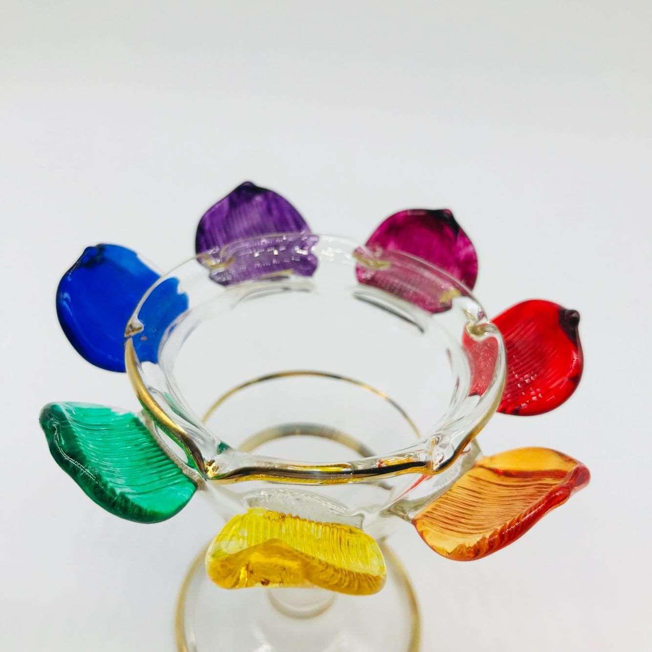 埃及纯手工玻璃莲花烛台 香精瓶摆件家居软装异域蜡烛灯台 七脉轮