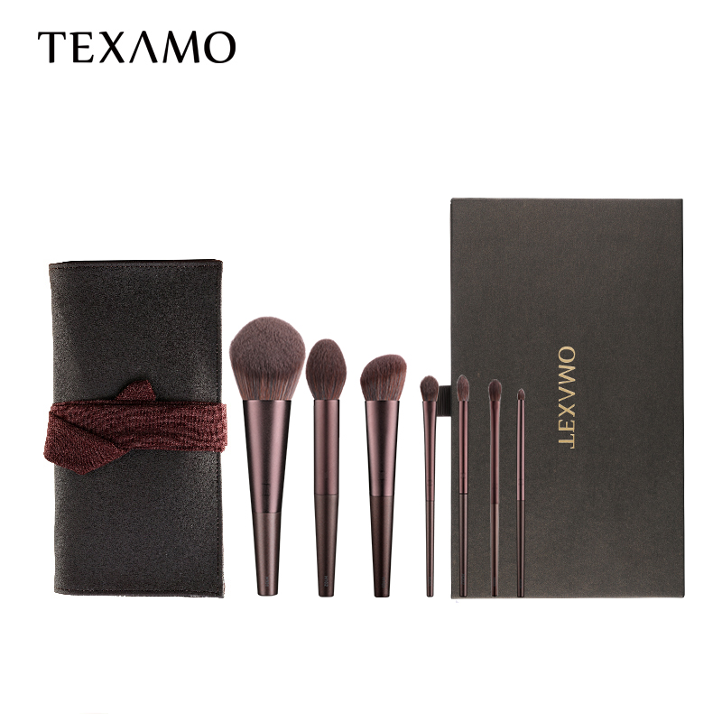Texamo/黛末化妆刷套装胡桃辉7支眼影腮红散粉刷子全套网红套刷