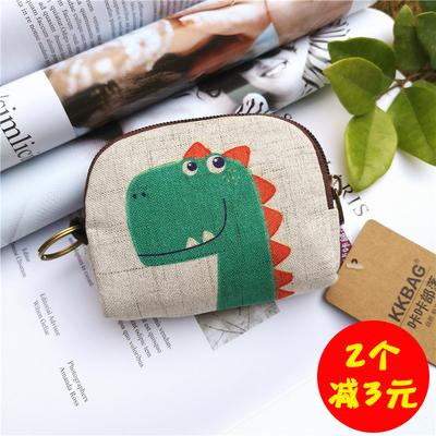 韩版迷你零钱包女短款可爱小包包学生硬币包布艺零钱袋简约钥匙包