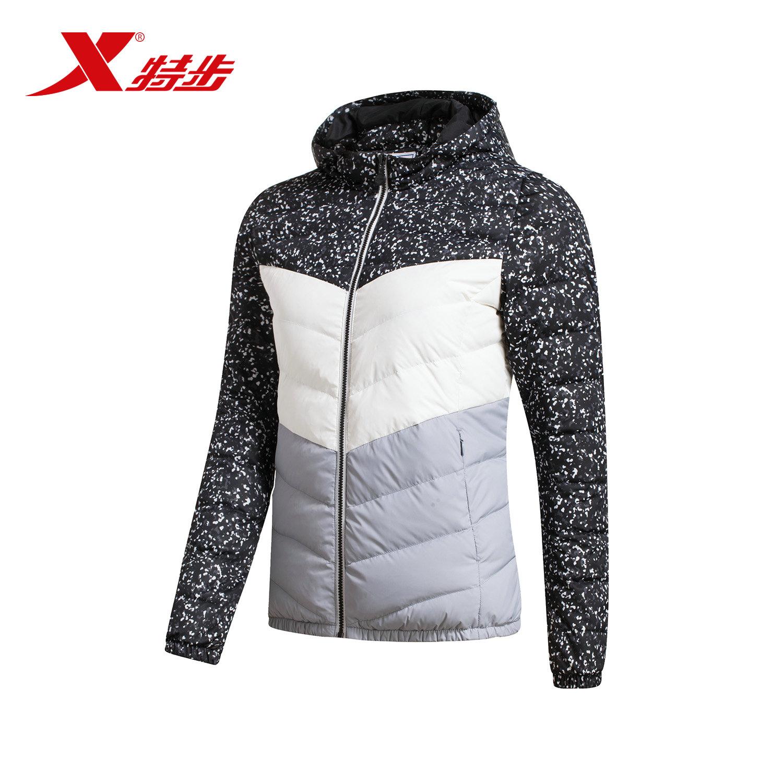 特步官方女运动羽绒服冬季新品潮流时尚外套防风保暖舒适女子上衣
