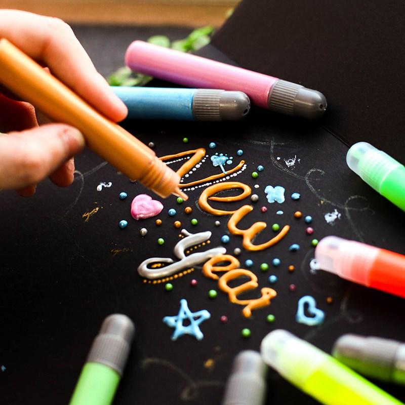 果冻笔画画纺织笔衣服创意学生多款墙面用途广鞋子diy画笔防水