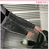 Disposable gloves Japanese CPE lengthened and thicker film gloves Long sleeve anti-skid food cleaning plastic gloves