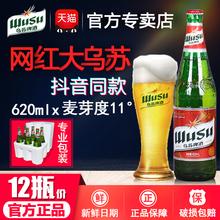 红乌苏夺命大乌苏新疆啤酒12瓶 乌苏啤酒官方 620ml整箱大冰书