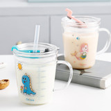 Beims children's milk cup with scale drinking milk breakfast glass milk powder microwave oven heating special cup