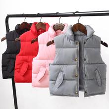 儿童马甲冬季加厚男童羽绒棉背心2017新款女童宝宝外穿保暖坎肩