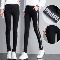 2018春款初中学生超长打底裤女外穿显瘦小脚170高个子加长版女裤