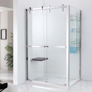 艾戈恋家高档304不锈钢双活动门淋浴房钢化玻璃洗浴房浴室FBE32