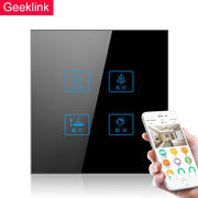 Extremely intelligent touch switch whole house linkage touch remote control switch socket set wifi wireless panel