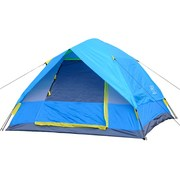 正品盛源户外旅游露营3-4人双层多人野营郊游压胶防雨自动帐篷