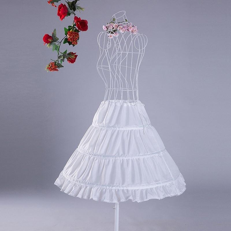 女童蓬蓬长裙裙撑儿童公主礼服裙撑女孩花童裙撑婚纱三圈童装衬裙