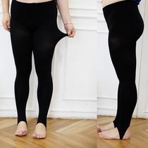 2018秋季新款加肥加大码女装 胖mm200斤踩脚连脚压力袜弹力丝袜