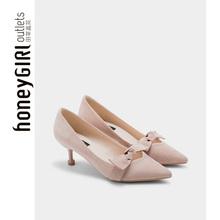 honeyGIRL2019新款女鞋春季单鞋法式少女高跟鞋细跟性感宴会鞋子图片