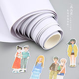 Hand account and paper tape stickers release paper cutting DIY with roll cartridges anti-adhesive paper silicone paper 10cm*10 meters