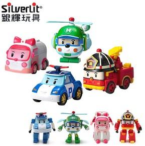 银辉 POLI变形警车珀利 消防车救护车 变形机器人 儿童玩具男