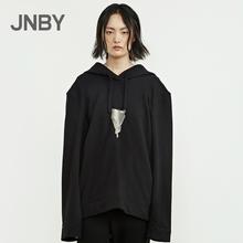 JNBY/江南布衣2018秋新品连帽趣味oversize卫衣外套女5H7232140
