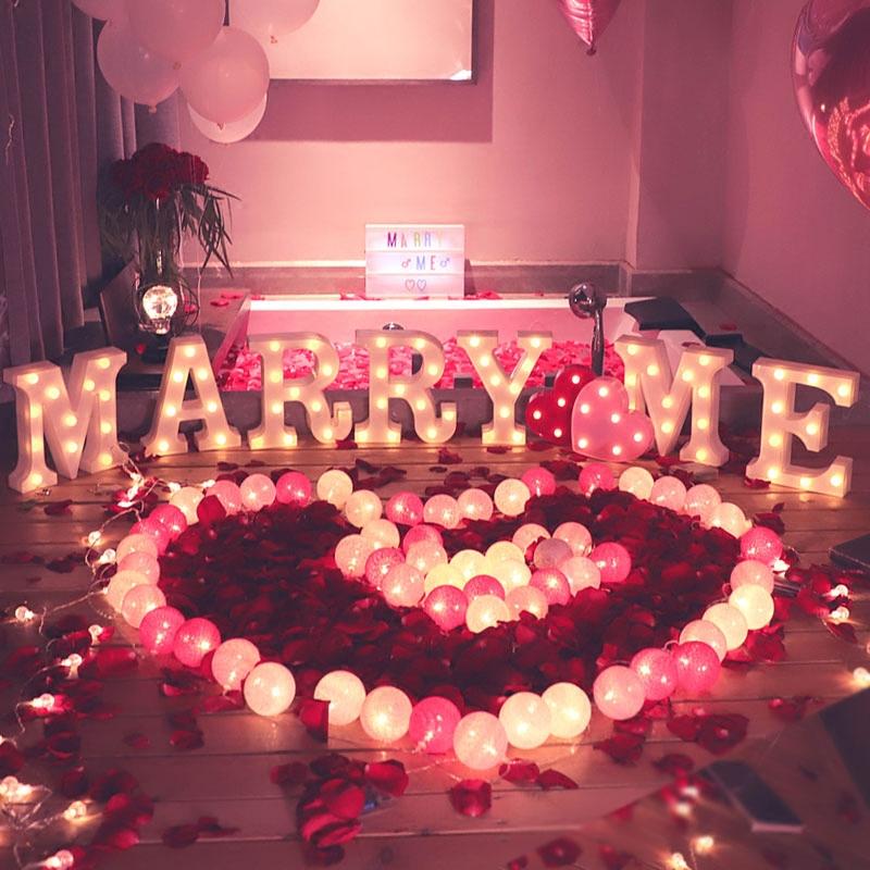 求婚道具惊喜浪漫场景布置创意用品表白神器室内室外房间套餐灯
