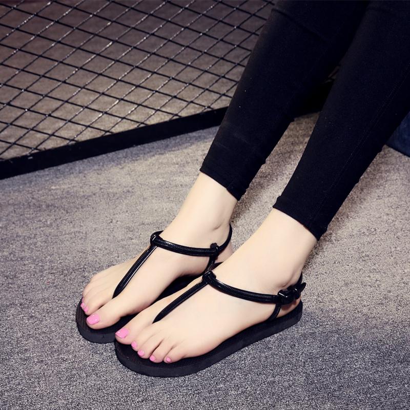 凉鞋女夏季平底纯色学生人字拖女夏沙滩鞋时尚简约夹脚凉拖鞋防滑