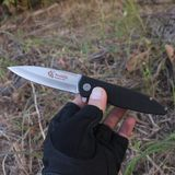 Folding knife bearing quick opening portable outdoor folding knife high hardness d2 folding knife bearing quick opening wild survival knife