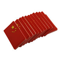 Loss red Chinese flag armband pvc soft rubber Velcro custom embroidery woven stickers chapter morale chapter small batch
